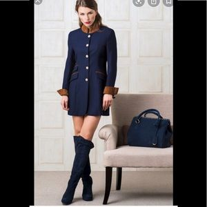 Michele Negri Navy Suede boots